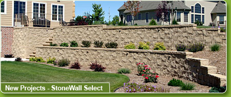 Featured project: Newcroft retaining wall.
